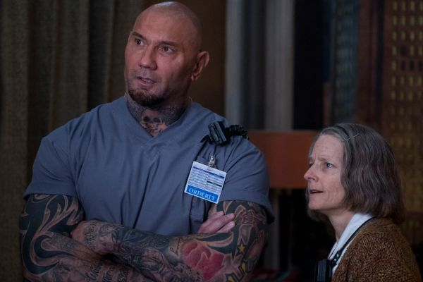 Hotel Artemis 2018 - Dave Bautista and Jodie Foster in HOTEL ARTEMIS. Distributor:  Global Road Entertainment