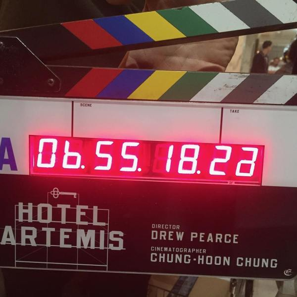 Hotel Artemis Movie Film Slate
