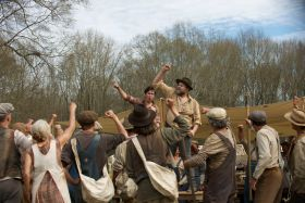 James Franco and Nat Wolff - In Dubious Battle Movie
