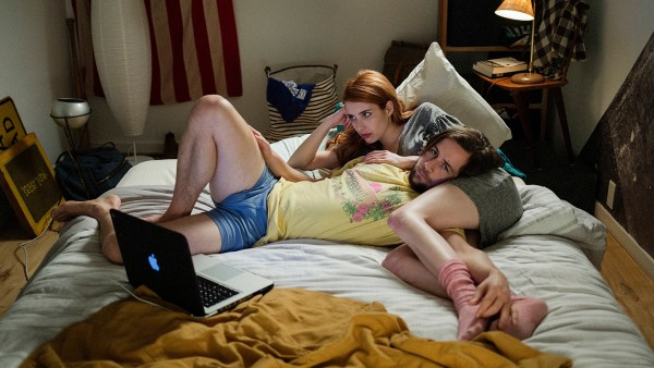 Actors Emma Roberts and Michael Angarano star in IN A RELATIONSHIP.