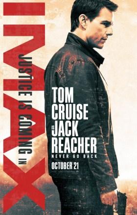 Jack Reacher Never Go Back IMAX Poster