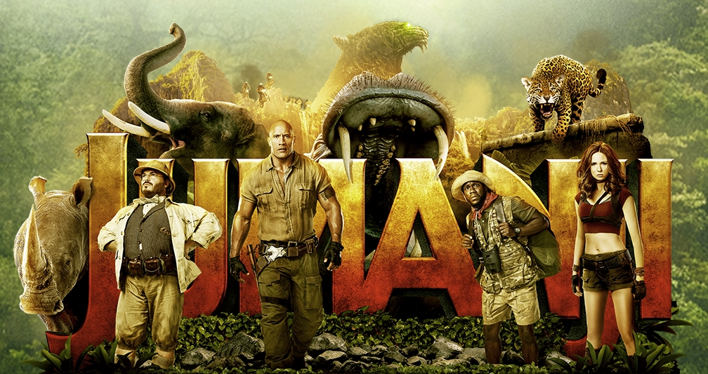 Jumanji Welcome to the Jungle 2017 cover poster review