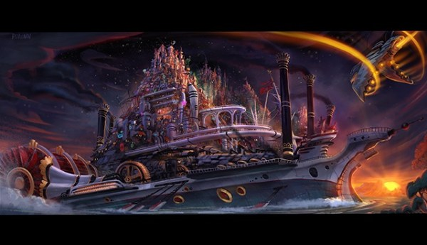 Kung Fu Space Punch Movie Concept Art