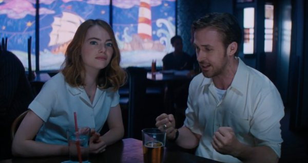 La La Land Emma Stone And Ryan Gosling December 2016 Movie