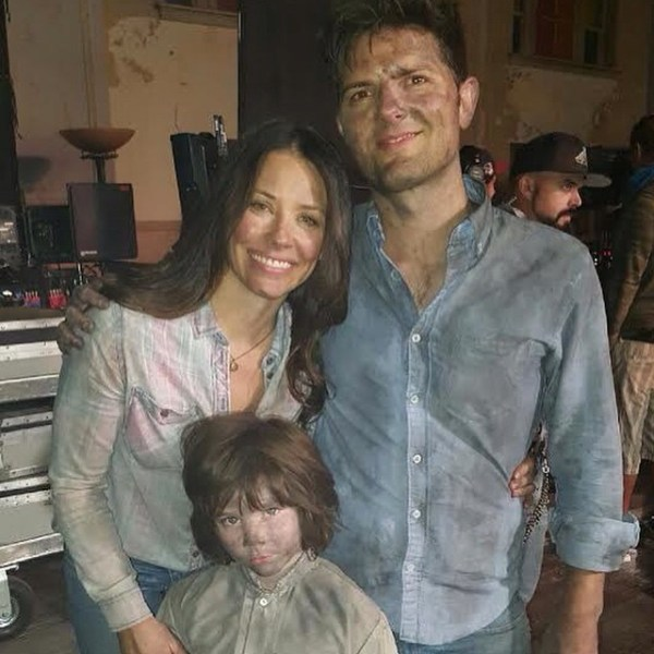 Little Evil Movie - Evangeline Lilly, Adam Scott, and Owen Atlas
