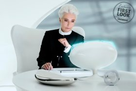 Emma Thompson (Agent O) in her office in Columbia Pictures' MEN IN BLACK: INTERNATIONAL.