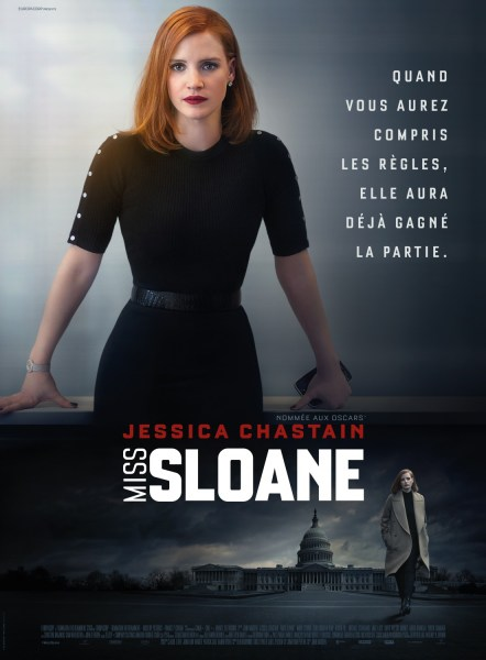 Miss Sloane French Poster
