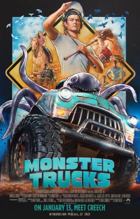 Monster Trucks Vintage Poster