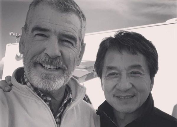 Pierce Brosnan And Jackie Chan
