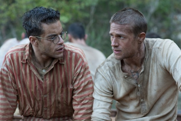 Rami Malek and Charlie Hunnam Papillon Movie