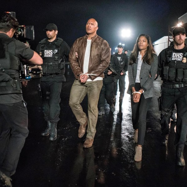 Rampage movie - Dwayne Johnson And Naomie Harris