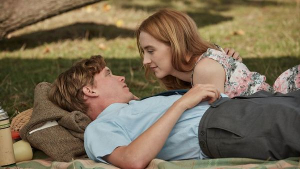 Saoirse Ronan And Billy Howle in the movie on Chesil Beach