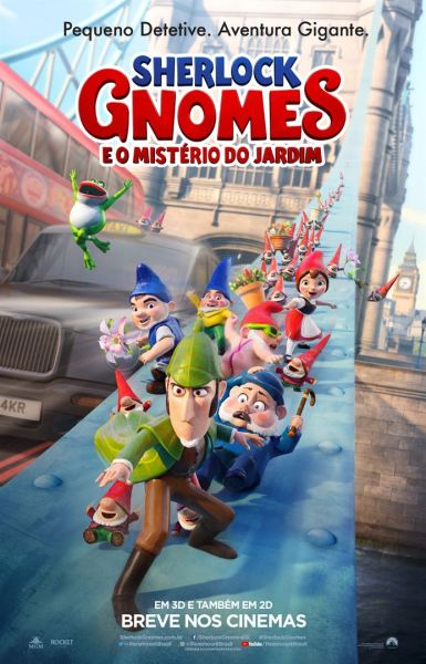 Sherlock Gnomes Brazilian Poster