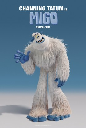 Smallfoot Character Poster - Channing Tatum is Migo.