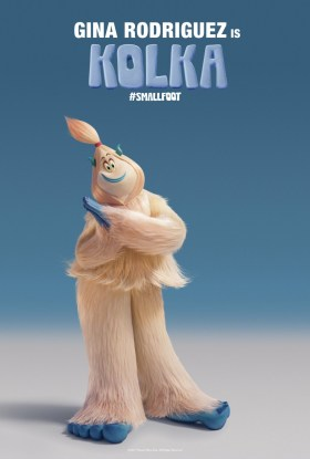 Smallfoot Character Poster - Gina Rodriguez is Kolka.