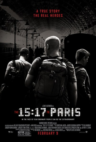 The 15 17 To Paris New Poster