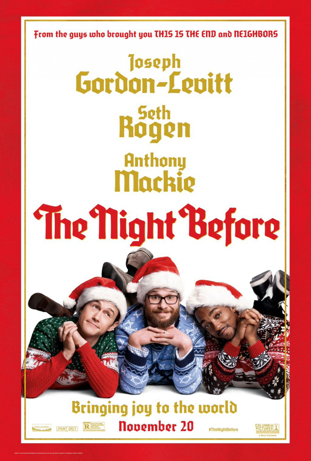 the night before movie christmas poster - The Night Before Christmas Trailer