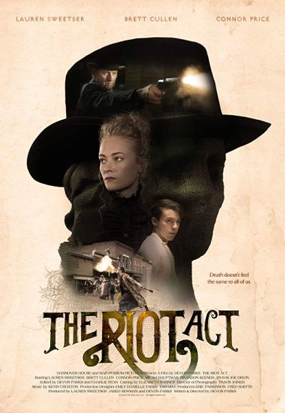 The Riot Act Poster - After a quiet murder seen by only three people, two avengers bring to life the idea of a ghost in attempt for justice.