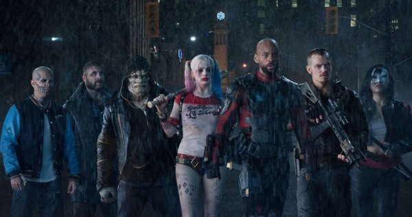 The Suicide Squad under the rain