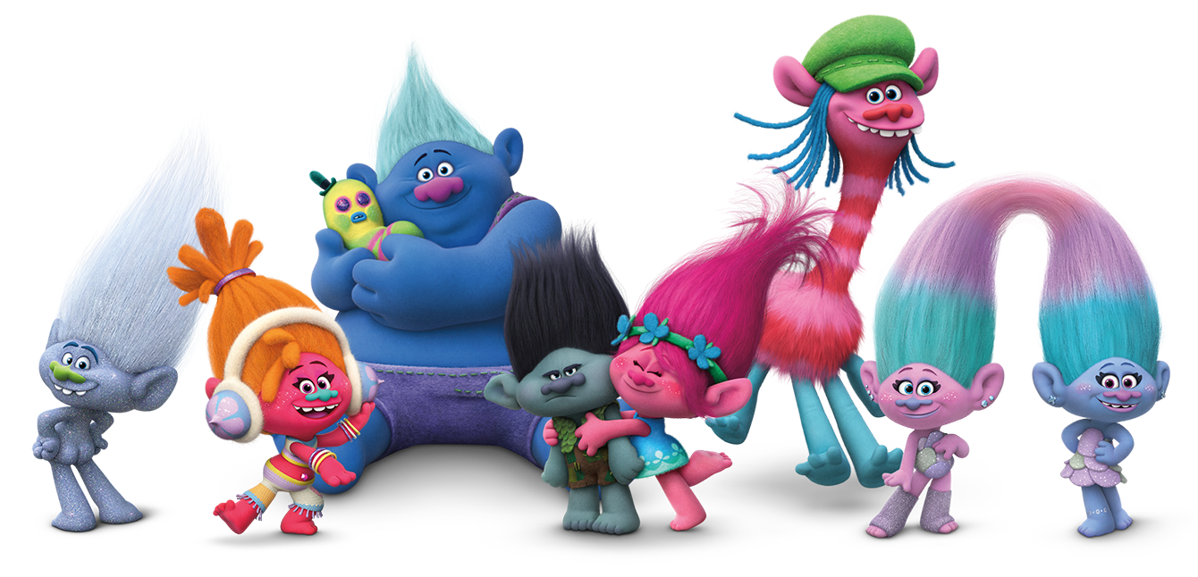 Trolls Movie Logo Voice Cast And Characters Teaser Trailer