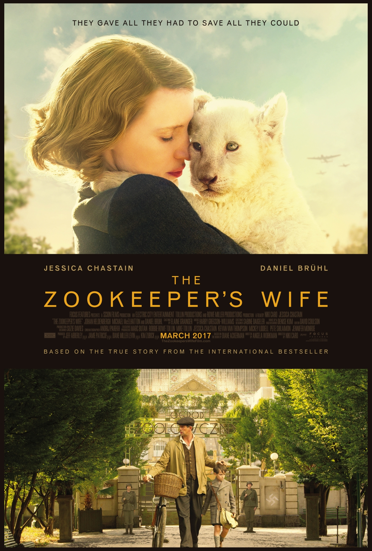 Image result for the zookeeper's wife poster