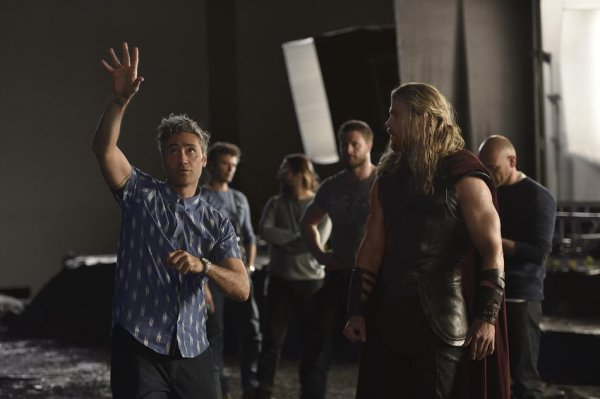 Thor 3 Ragnarok - Behind the scenes picture