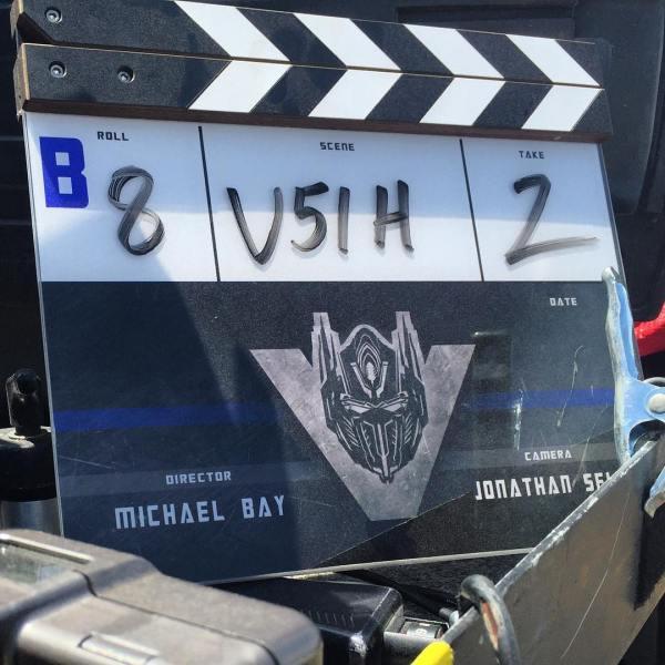 Transformers 5 Film Clapperboard