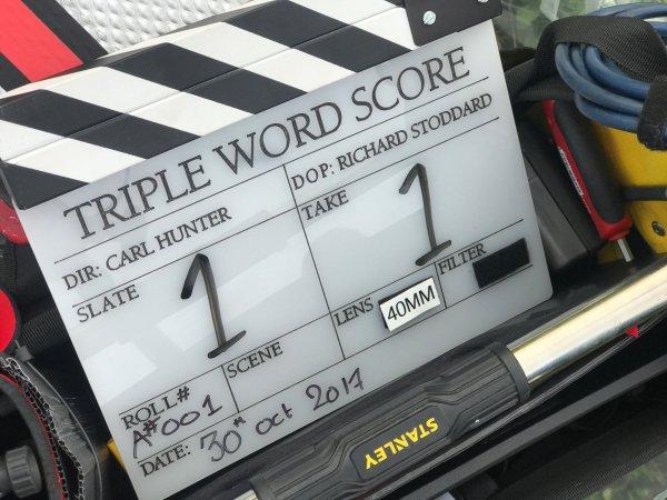 Triple Word Score - Film clapperboard