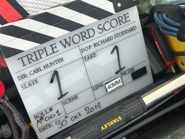 Triple Word Score - Film clapperboard