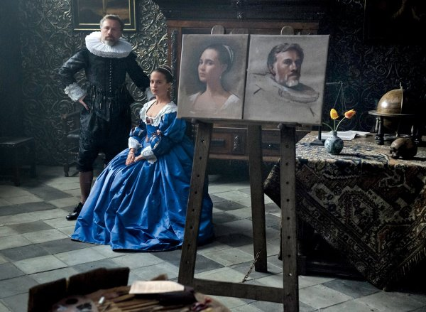 Tulip Fever Movie - Alicia Vikander and Christoph Waltz