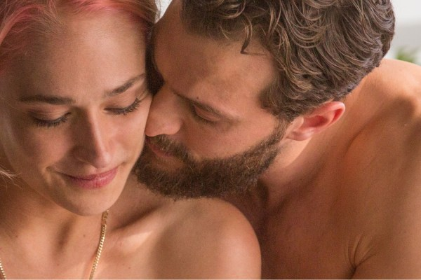 Andrea (Jemima Kirke) and Nick (Jamie Dornan) get closer in UNTOGETHER.