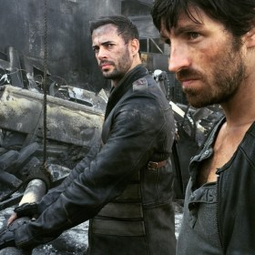 William Levy as Christian and Eoin Macken as Doc - RE6 Movie