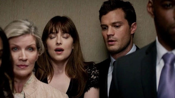 Fifty Shades Darker - Dakota Johnson and Jamie Dornan - Joy in the lift
