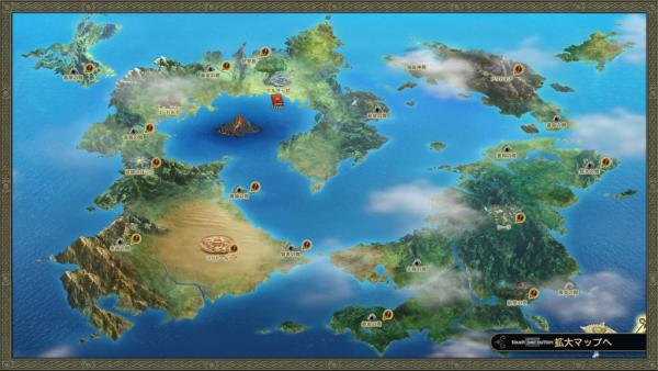 ワールドマップ 地図 ドラゴンクエストヒーローズ