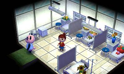 病院 入院 どうぶつの森ハッピーホームデザイナー