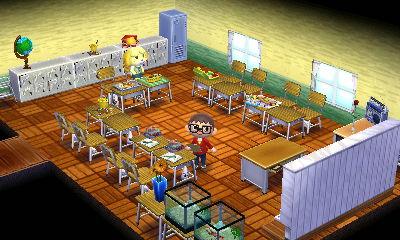 【ハピ森】昔小学校の時たまにやってたコの字型のレイアウトで机配置してみたw【どうぶつの森ハッピーホームデザイナー】