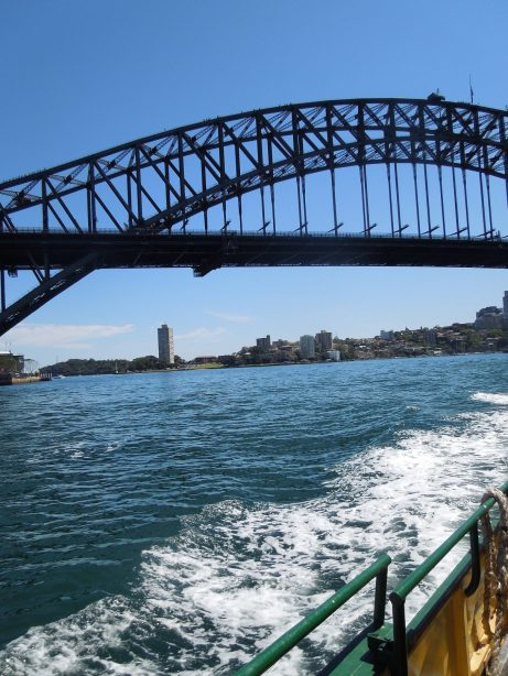 Taking the ferry back to Circular Quay