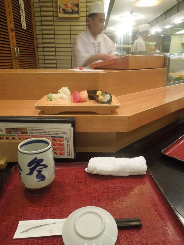My first proper sushi in Tokyo!