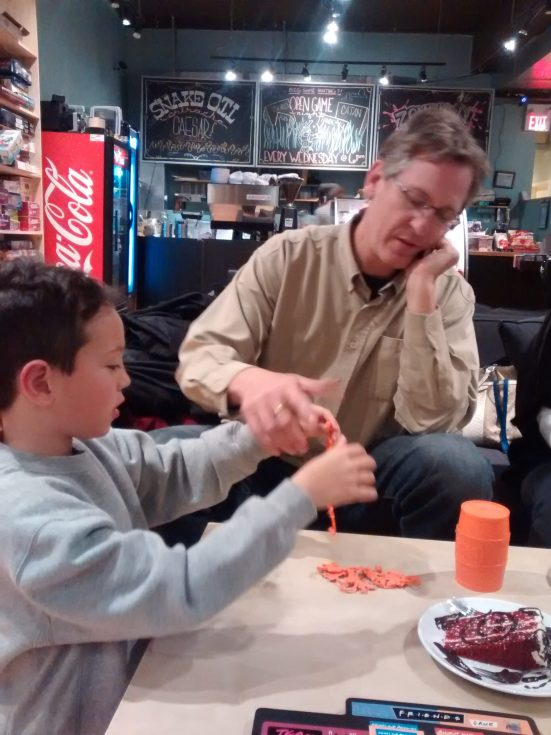 Board games & dessert with the Canning family