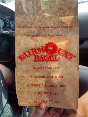 Bagels for the road!