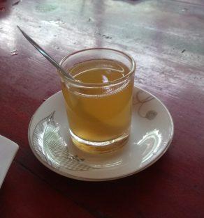 Fresh honey in tea