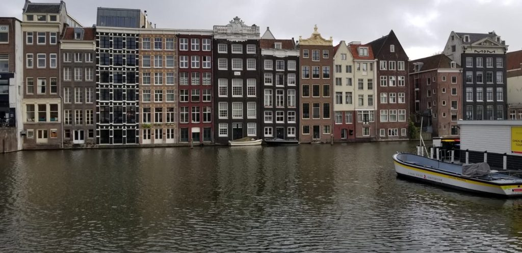 Skinny houses & canals of Amsterdam