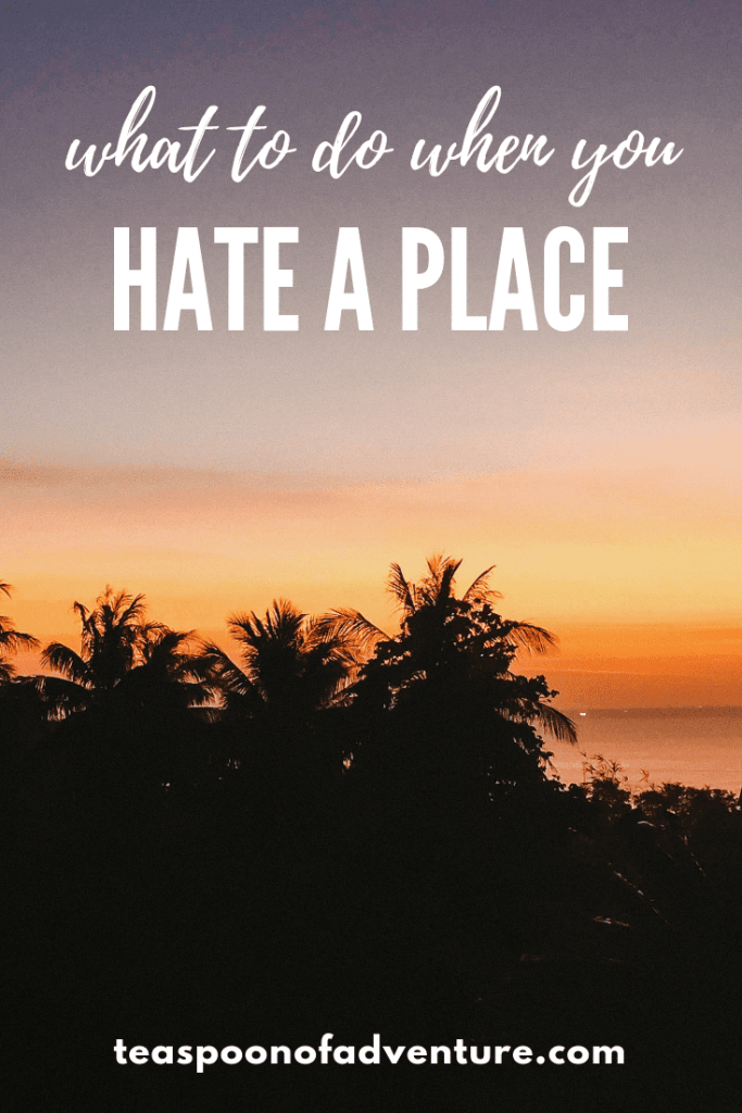 In the world of travel blogs, it's almost always sunshine and rainbows, perfect Instagram photos and blog posts. But what happens when you hate a place? #travel #traveltips
