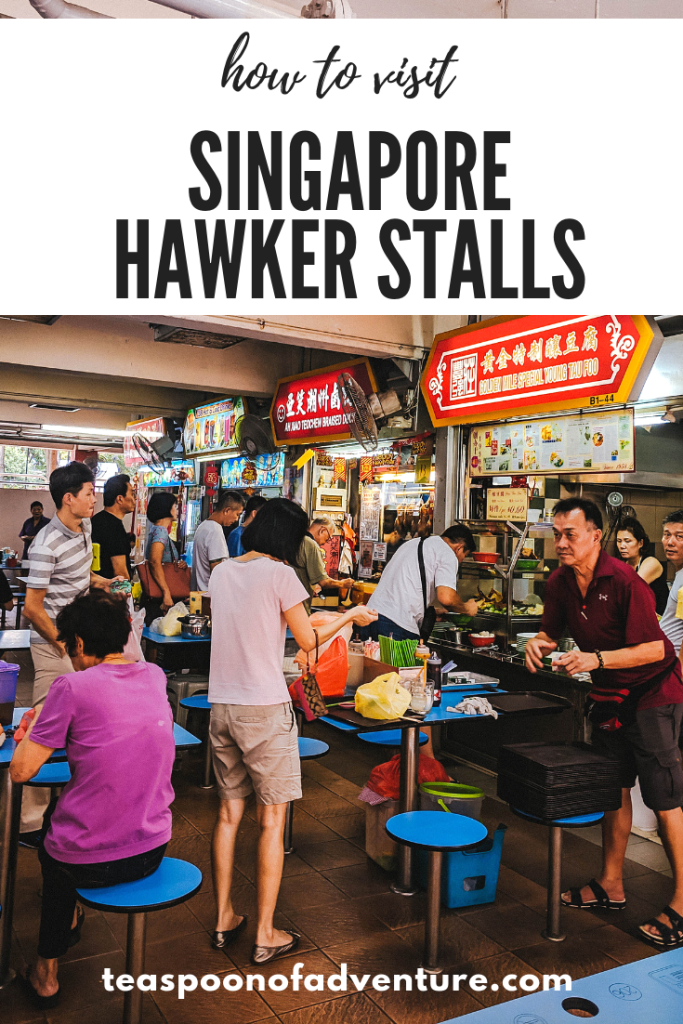 Your complete guide to visiting Singapore hawker stalls for the first time - a must-do in Singapore! #travel #traveltips #singapore