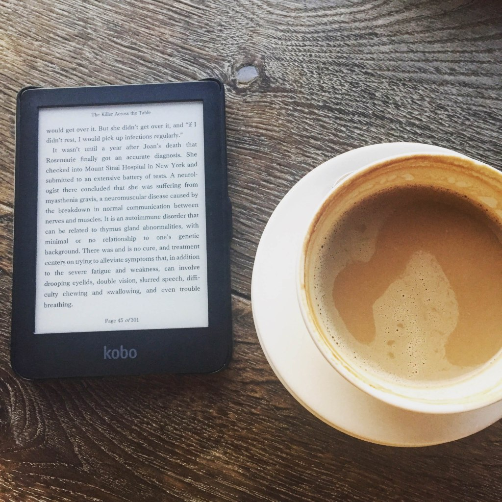 Ereader with coffee
