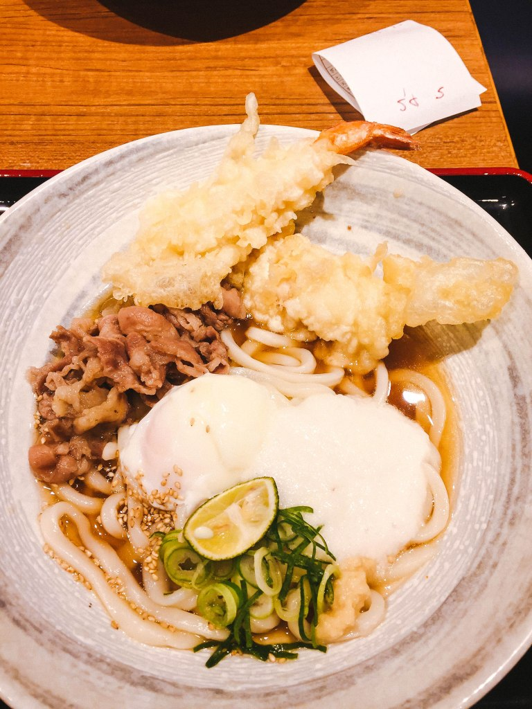 Udon noodle lunch in Tokyo
