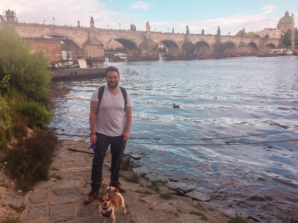 Travel with a dog in Prague