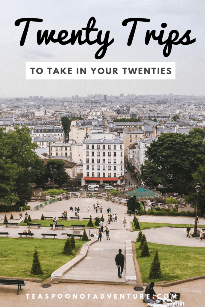 Here are the 20 trips to take in your 20s - from road trips and family travel to weekend getaways and backpacking. How many of these trips have you been on? #travel #traveltips #20stravel