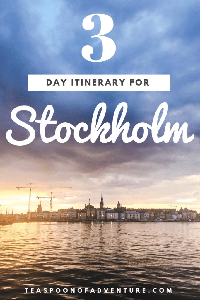 How to spend 3 days in Stockholm, Sweden - Scandinavia's coolest city! #stockholm #sweden #scandinavia #travel #traveltips