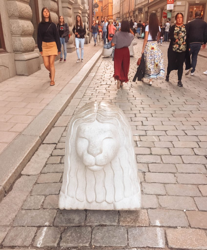 lion statue in Stockholm